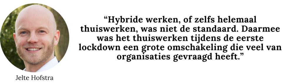 Hybride werken Jelte